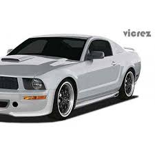 2005 Black Mustang Ford Mustang 2005 2009 Eleanor Style 2 Piece Polyurethane Side