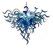 Teal Glass Chandelier Buy The Anemone 137 Hand Blown Glass Chandelier