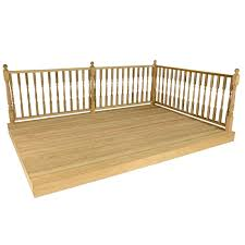 1 8x2 4m deck kit with railings turned edwardian spindles buy