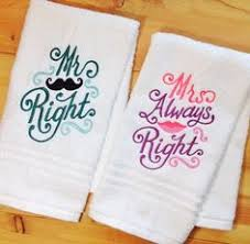 wedding gift towels his and hers bath towels his and hers towels personalized