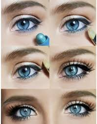 eye makeup for blue eyes brown hair how to do