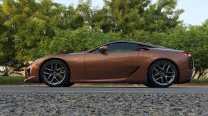 lexus lfa tires one off lexus lfa looks magnificent in pearl brown autoevolution
