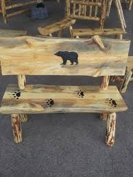 Log Outdoor Furniture by Rustic Log Furniture And Chainsaw Carvings U2013 Great Northern Logworks