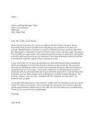 cover letter examples customer service representative