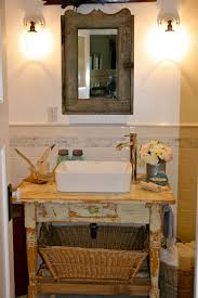 Rustic Faucets Bathroom by Vessel Sink Faucets Powder Room Rustic With Accent Tile Accent
