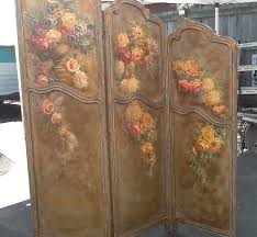 antique louis xv french room divider screen chic roses hand