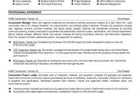 Construction Manager Resume Examples by Electrical Superintendent Resume Samples Reentrycorps