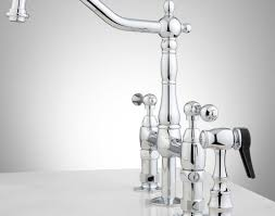 bridge kitchen faucet with side spray kitchen bellevue bridge kitchen faucet with brass sprayer lever