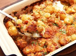 cheesy bacon and new potato gratin recipe serious eats