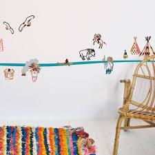 frise murale chambre bébé chambre indienne décoration chambre bébé berceau magique