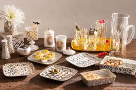 home entertaining metallics dress the table for home entertaining kitchenware news