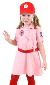Halloween Baseball Costumes Amazon Rockford Peaches Aagpbl Baseball Girls Costume Dress