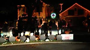 Thriller Halloween Lights by Video Halloween Light Show Display With Best Disney Villains