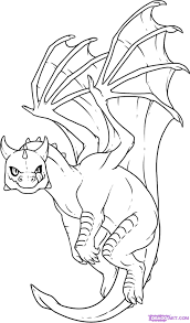 sketches dragons draw flying dragon dragon