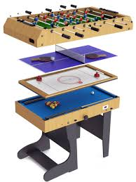 4 in one game table riley folding leg multi games table m4b 1f liberty games