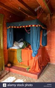 Medieval Bedroom by Colourful Medieval Curtained Bedstead Bed With Curtains In