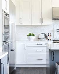 white kitchen with long island kitchens pinterest shaker kitchen cabinets home furniture