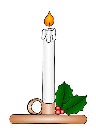 candles black and white clipart 36