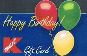 gift card happy birthday kmart united states of america col us