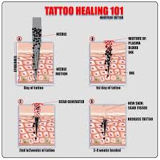 instructions on caring for first time tattooers