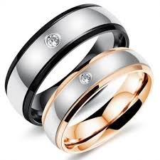 cincin cople cincin titanium model anti karat anti hitam