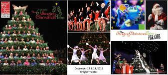 the 61st annual singing christmas tree u0026 the singing christmas