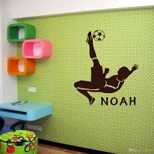 customer made personalised football sport wall mural vinyl decal free shipping customer made personalised football sport wall mural vinyl decal art for boys rooms