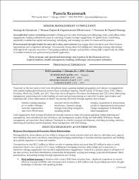 Resume Examples For Experience by Management Consulting Resume Example For Executive