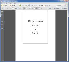 creating a pdf at the right output size and dimensions
