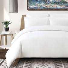 washed linen cotton blend duvet cover set free shipping today