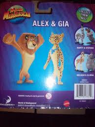 madagascar madagascar 3 alex u0026 gia 2 pack figures