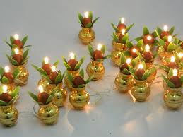 pooja decorations at home buy tucasa dw 41 golden kalash string light multicolor online at
