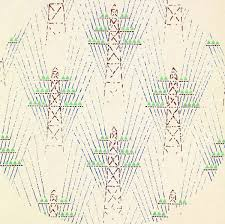 detail of textile design with electrical towers 1930