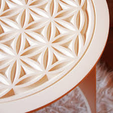 coffee table flower of life sacred geometry art for a