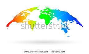 3d globe map template monochrome design imagem vetorial de banco