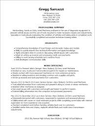 motorcycle technician resume motorcycle mechanic cover letter