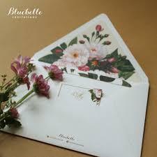 andre u0026 christine floral wedding invitation by bluebelle
