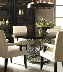 129 bernhardt jet set round dining table arm chairs curio cabinet