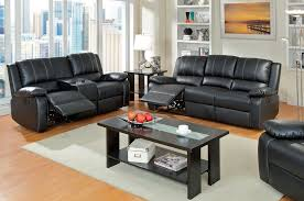Black Leather Reclining Sofa And Loveseat Alluring Black Leather Recliner Sofa Leather Recliner Sofa