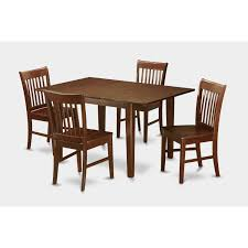 east west furniture milan 5 piece dining table set table with