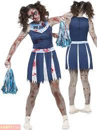 Zombie Cheerleader Costume Girls Teen Zombie Cheerleader Costume Child Halloween Fancy Dress