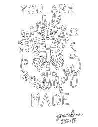psalm 139 14 coloring page u2013 from victory road