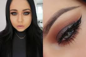 make up tips for salt and pepper hair cool grey rich warm brown smokey eye makeup tutorial youtube