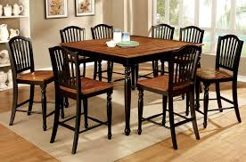 black counter height table set black counter height dining room set