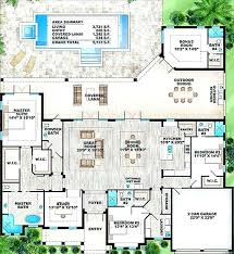 home plans with pools house plans with pool in middle house plan lake modern