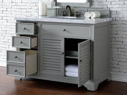 abstron 48 inch grey finish single cottage bathroom vanity