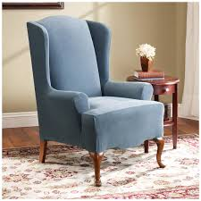sure fit slipcovers wing chair oversized wingback chair slipcovers best home chair decoration