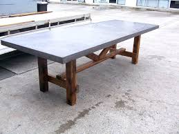 concrete and wood outdoor table concrete outdoor furniture cvid