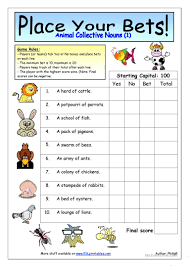 25 free esl collective nouns worksheets
