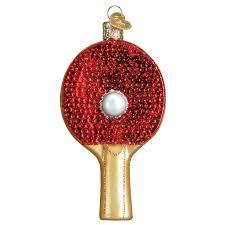 pong paddle old world christmas ornament 44105
